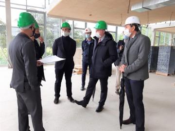 le chantier et la visite de JL MOUDENC